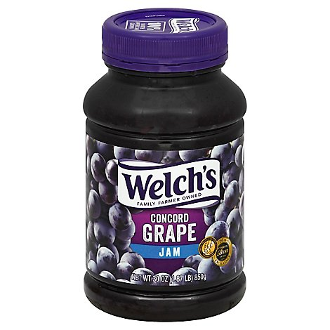 Welchs Jam Concord Grape - 30 Oz