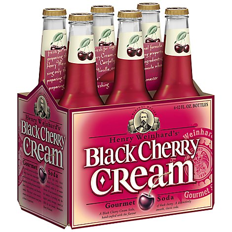 Henry Weinhards Soda Black Cherry Cream - 6-12 Fl. Oz.