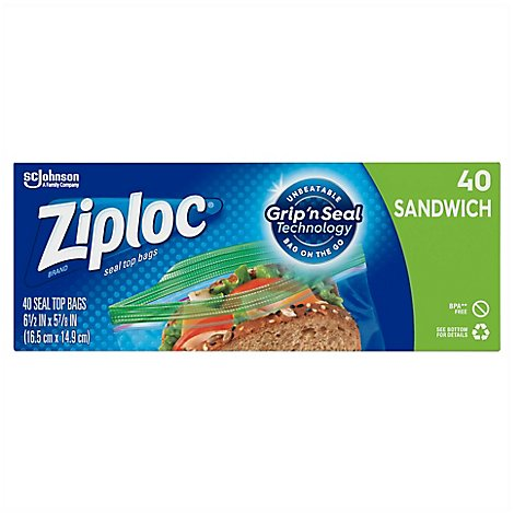 Ziploc Seal Top Sandwich Bags - 40 Count