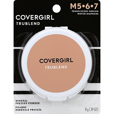 COVERGIRL truBLEND Mineral Pressed Powder Translucent Medium M5-6-7 - 0.39 Oz