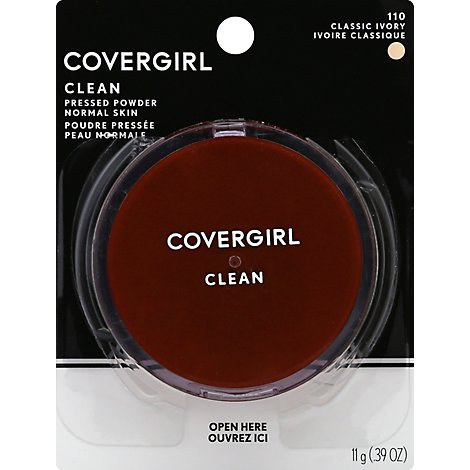 COVERGIRL Clean Pressed Powder Normal Skin Classic Ivory 110 - 0.39 Oz