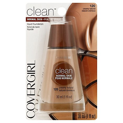 COVERGIRL Clean Liquid Foundation Normal Skin Creamy Natural 120 - 1 Fl. Oz.