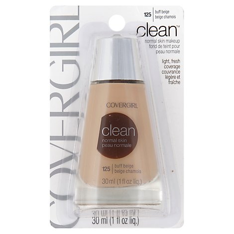 COVERGIRL Clean Liquid Foundation Normal Skin Buff Beige 125 - 1 Fl. Oz.