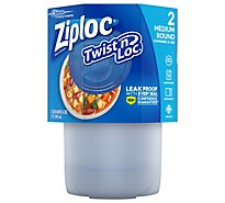 Ziploc Containers & Lids Twist N Loc Round Medium - 2 Count