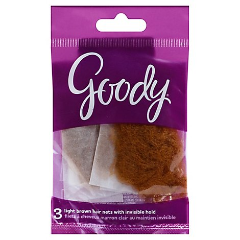 Goody Hair Net Light Brown - 3 Count