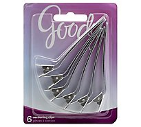 Goody Sectioning Clips Aluminum - 6 Count