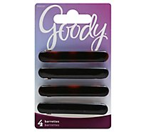 Goody Barrette Classics Autoclasp Oblong - 4 Count