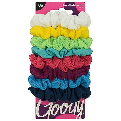 Goody Scrunchie Ouchless Jersey Variety - 8 Count