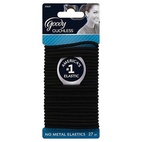 Goody Elastics Ouchless Thick 4mm Black - 27 Count