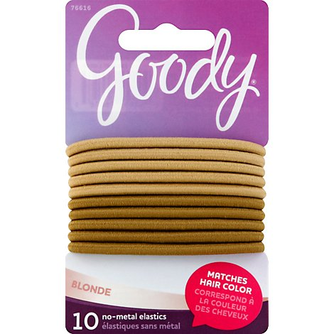 Goody Elastics Ouchless Thick 4mm Blonde - 10 Count