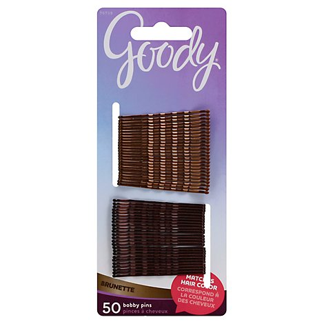 Goody Bobby Pins Colour Collection Brunette - 50 Count