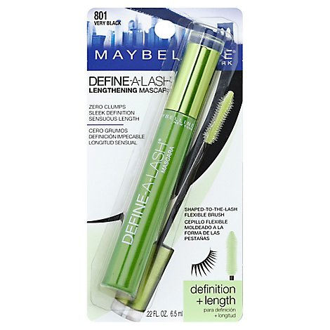 Maybelline Mascara Define A Lash Lengthening Very Black 801 - 0.27 Fl. Oz.