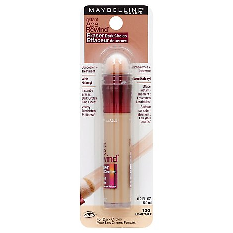 Maybelline Concealer Age Rewind Dark Circle Eraser Light 120 - 0.01 Fl. Oz.