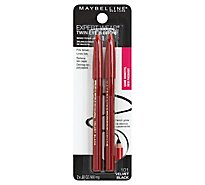 Maybelline Eye Pencil Brow Liner & Pencil Velvet Black 101 - .06 Oz