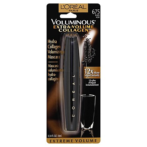 LOreal Mascara Extra Volume Collagen Plumping Black 675 - .34 Fl. Oz.