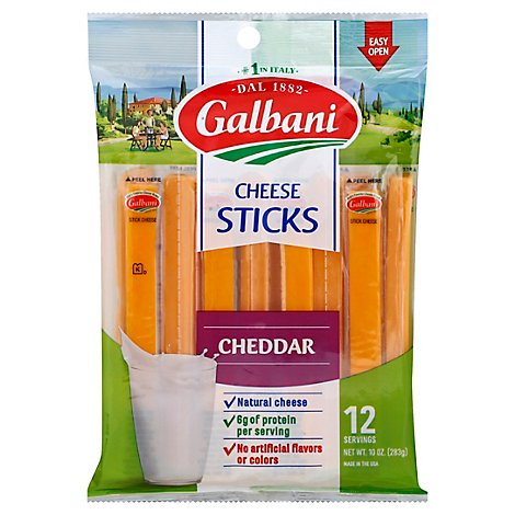 Galbani Sticksters Cheddar Cheese Sticks - 10 Oz