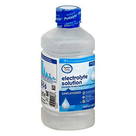 Signature Care Electrolyte Solution For Kids & Adults Unflavored - 1 Liter