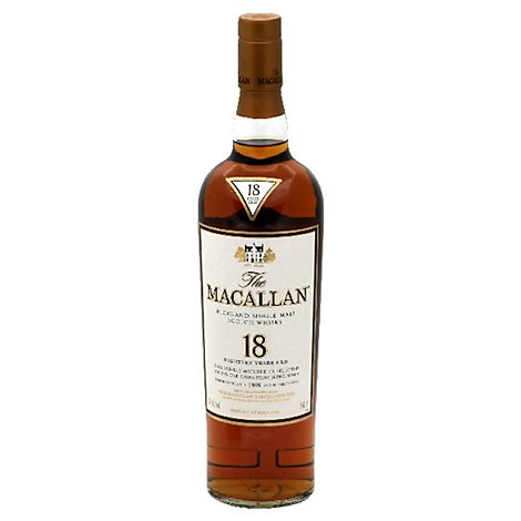 Macallan 18 Year Old Scotch 86 Proof - 750 Ml