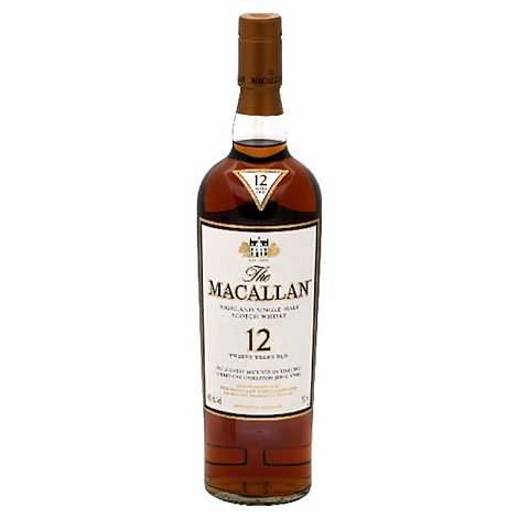 The Macallan Whisky Scotch Highland Single Malt In Box 86 Proof - 750 Ml