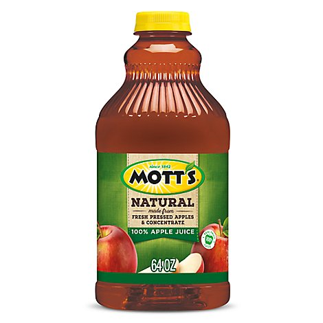 Motts Natural Apple Juice - 64 Fl. Oz.