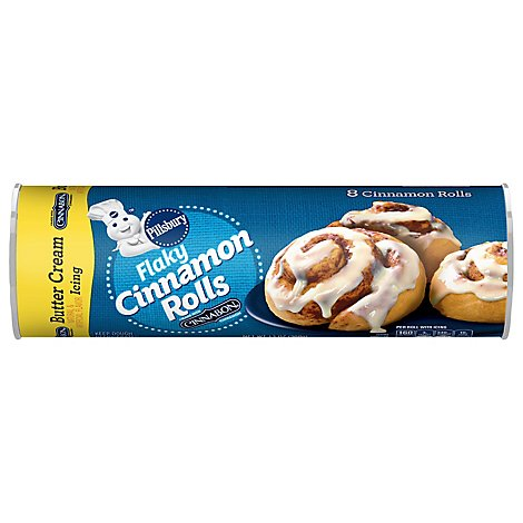 Pillsbury Cinnamon Rolls Flaky With Butter Cream Icing 8 Count - 13 Oz