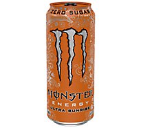 Monster Energy Drink Zero Sugar Ultra Sunrise - 16 Fl. Oz.