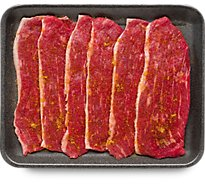 Meat Counter Beef Flap Meat For Carne Asada Seasoned - 1.50 LB