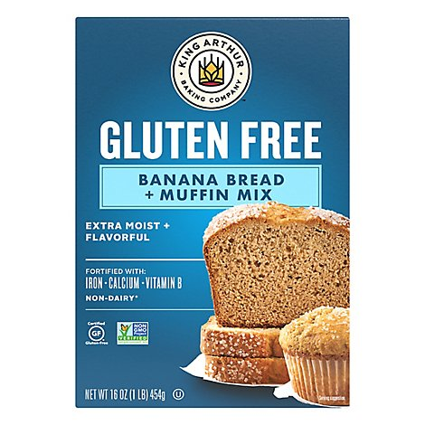 King Arthur Flour Bread Mix Banana Bread Gluten Free - 16 Oz