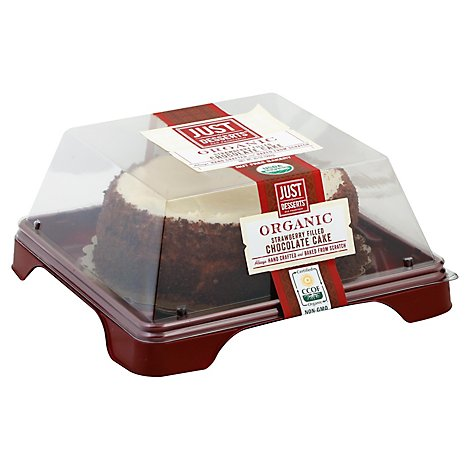Just Desserts Cake 6 Inch Organic Chocolate Strawberry - Each