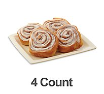 Fresh Baked Cinnamon Rolls - 4 Count