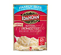 Idahoan Potatoes Mashed Buttery Homestyle Pouch - 8 Oz
