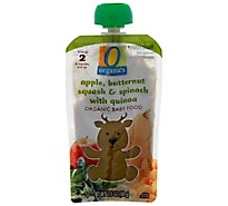 O Organics Organic Baby Food Stage 2 Apple Butternut Squash & Spinach With Quinoa - 3.5 Oz