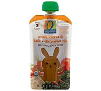 O Organics Organic Baby Food Stage 2 Apple Carrot & Kale With Brown Rice - 3.5 Oz