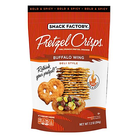 Snack Factory Pretzel Crisps Buffalo Wing - 7.2 Oz