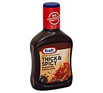 Kraft Sauce & Dip Barbecue Thick & Spicy - 18 Oz
