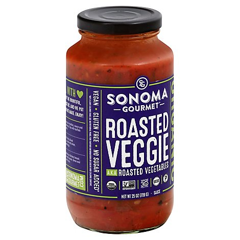 Sonoma Gourmet Pasta Sauce Roasted Vegetables Jar - 25 Oz