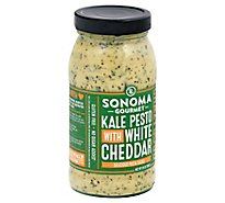 Sonoma Gourmet Pasta Sauce Kale Pesto with White Cheddar Jar - 25 Oz