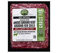 Open Nature Beef Ground Beef For Chili 85% Lean 15% Fat - 16 Oz