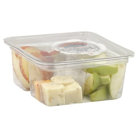Fresh Cut Snack Pack Apples & Cheese - 8 Oz (490 Cal)