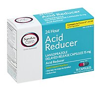 Signature Care Acid Reducer 24 Hour Lansoprazole Delayed Release 15mg Capsule - 14 Count