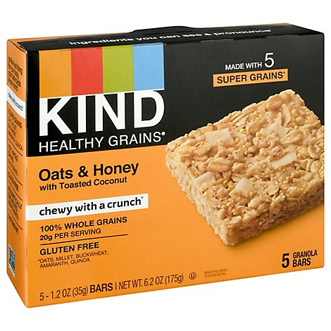 KIND Healthy Grains Granola Bars Oats & Honey with Toasted Coconut - 5-1.2 Oz