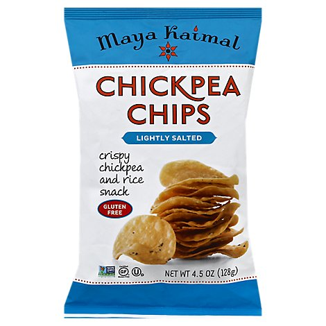 Maya Kaimal Gluten Free Lightly Salted Chickpea Chips - 4.5 Oz