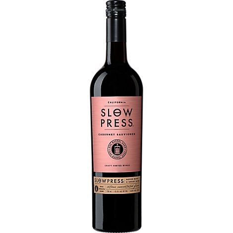 Slow Press Wine Red Cabernet Sauvignon - 750 Ml