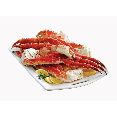 Seafood Counter Crab King Alaskan Leg & Claw Previously Frozen Service Case 9 to 12 Count - 1 Lb