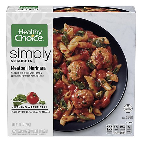 Healthy Choice Simply Steamers Meals Meatball Marinara - 10 Oz