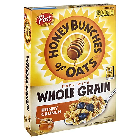 Honey Bunches of Oats Cereal Whole Grain Honey Crunch - 18 Oz