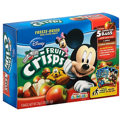 Brothers All Natural Fruit Crisps Disney Mickey Mouse Clubhouse Mixed Apple 5 Bags - 1.23 Oz