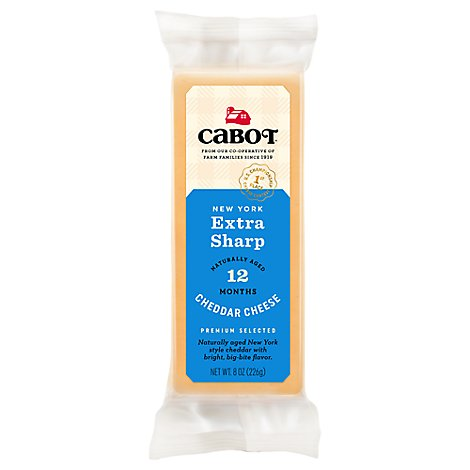 Cabot Cheese Cheddar Aged New York Extra Sharp - 8 Oz