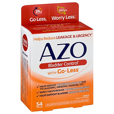 AZO Bladder Control Dietary Supplement Capsule - 54 Count