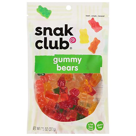 Snak Club Premium Pack Gummy Bears - 7.5 Oz